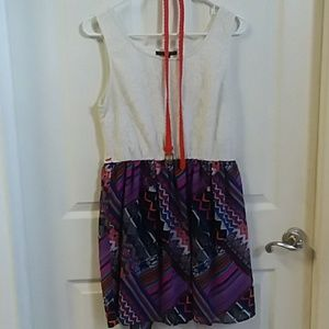 Juniors size Large belted dress